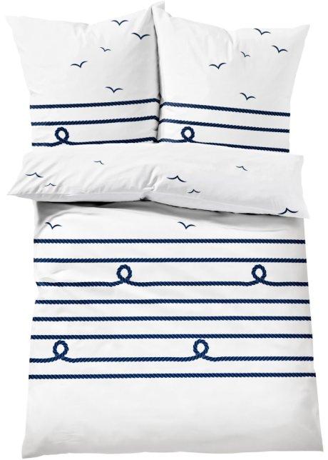 Für Mehr Gemütlichkeit Die Bettwäsche Möwe Blauweiß Linon