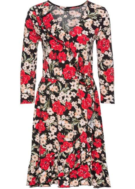 Kleid wickeloptik blumen