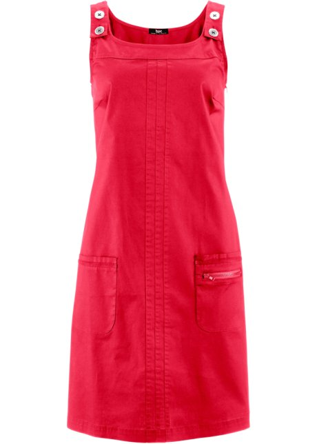 Mit Rot Kleid Träger Taschen Aufgesetzten Y6bfy7g