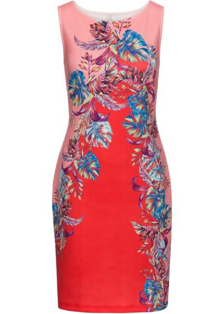 8f6dba8b526f6c Kleid mit floralem Print rot/pink/blau geblümt - Damen - BODYFLIRT ...