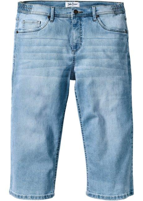 63918ea6dceb Lässige Komfort-Stretchjeans in 3 4-Länge mit Used-Effekt - hellblau ...