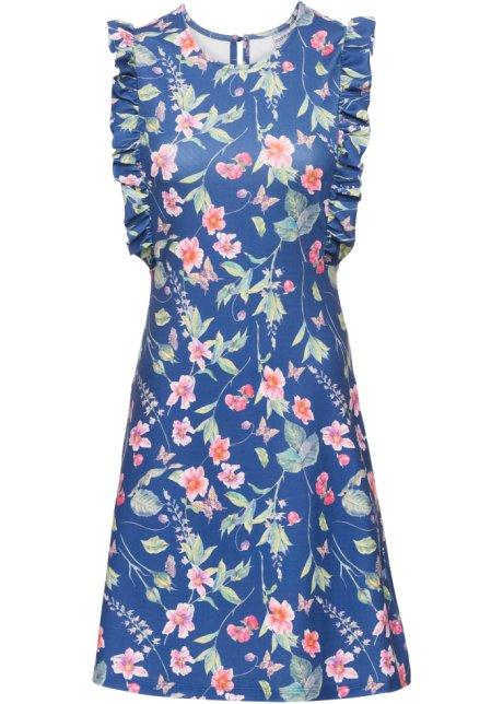 2c87e2ea95e Geblümtes Kleid aus Jersey-Crepe royalblau geblümt - BODYFLIRT ...