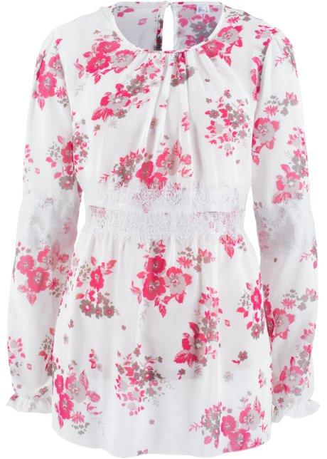 Chiffon-Kleid - designt von Maite Kelly langarm in weiß von bonprix Bonprix jT864QI