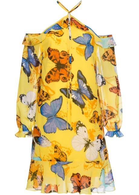 Kleid schmetterling gelb