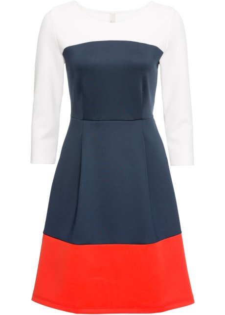 ac843e0b72384f Kleid blau/weiß/rot - BODYFLIRT boutique - bonprix.de