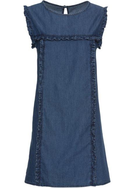 Jeans kleid ruschen