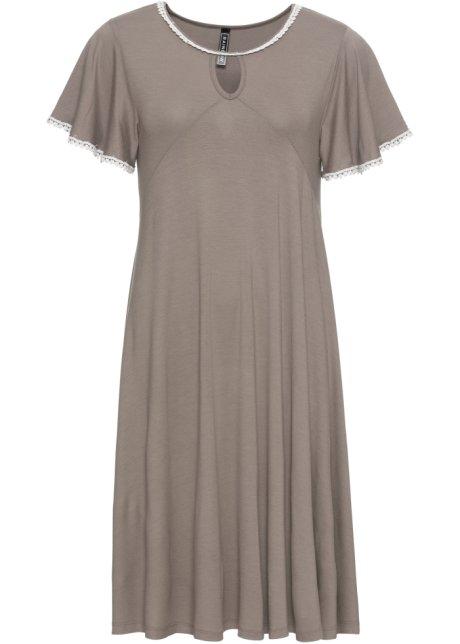 Kleid Taupeweiß Damen Rainbow Bonprixde
