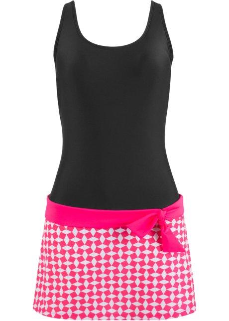 046d87466dfcee Schönes Badekleid im Fifties-Look - schwarz/pink