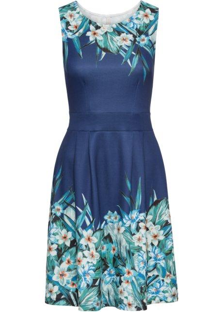 e84c2f130618f3 Kleid mit Blumenprint blau geblümt - BODYFLIRT boutique online ...