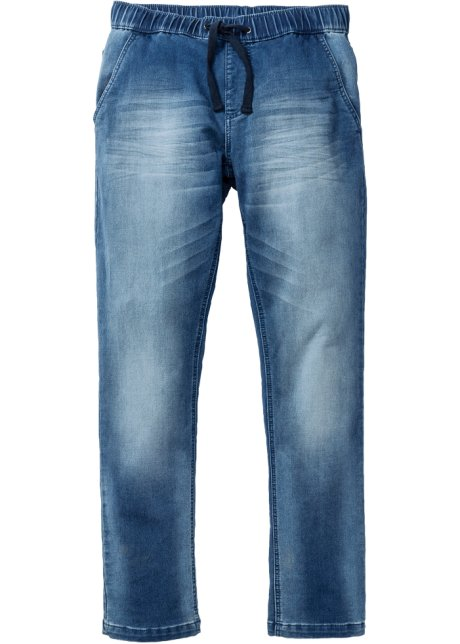 823a6ffb3f704 Superlässige Regular Fit Sweat-Jeans mit Gummibund