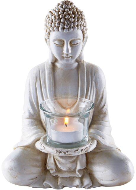 Teelicht-Set 6tlg.Buddha Farblich Sortiert