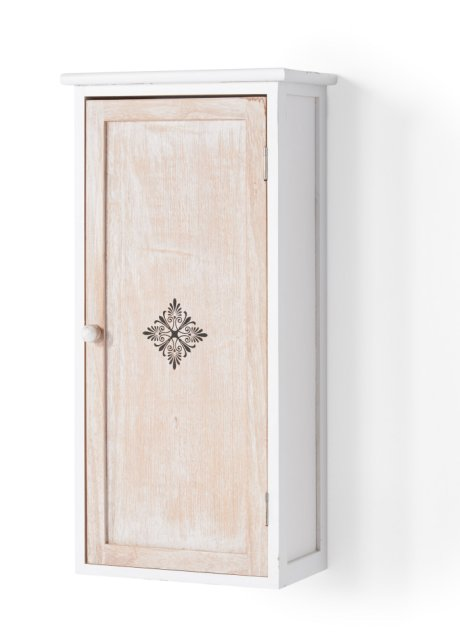 Badezimmer Hangeschrank Rike Mit Schonen Ornamenten Weiss Natur