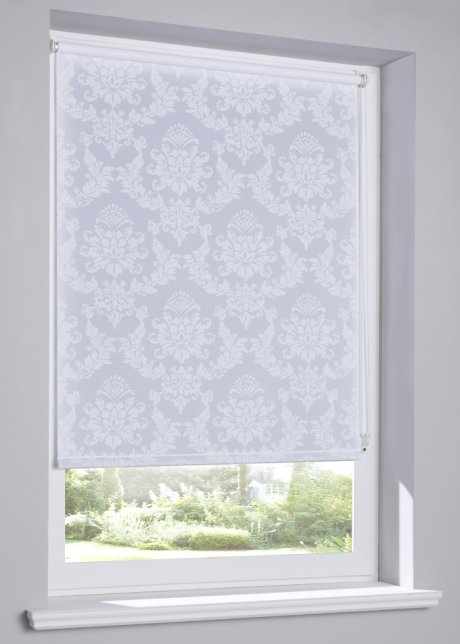Sichtschutzrollo Ornament Weiss