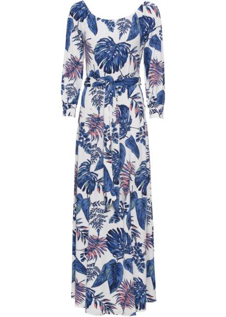 c07341f26df Maxikleid mit Print weiß blau gemustert - Damen - BODYFLIRT boutique ...