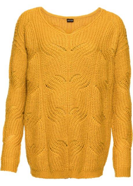 super popular 2063e e445f Schicker Pullover aus Strick mit schönem Muster und V-Ausschnitt
