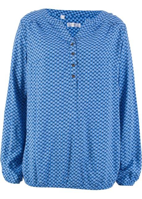 f458a28b15189b Modische Tunika mit elastischen Bündchen - gletscherblau