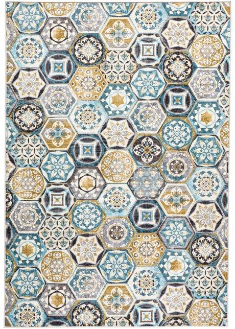 Mit Einem Aufwendigen Muster In Schoner Farbgebung Der Teppich