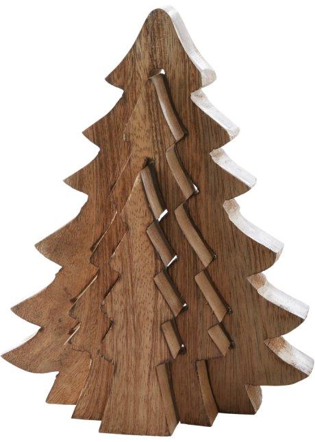 Sehr Dekorativ in jedem Raum: der Holz-Tannenbaum in 3D-Optik - hellbraun VF12