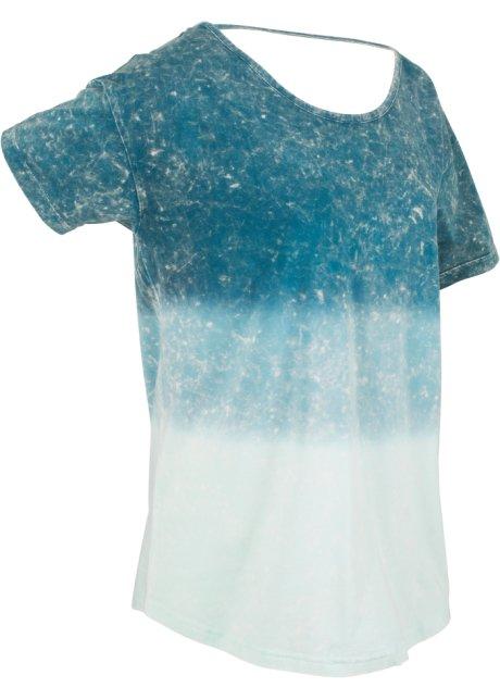 052a57fff1cb0 Locker geschnittenes Batik-Kurzarm-T-Shirt mit großem ...