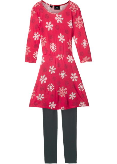 Kleid rot dreiviertelarm