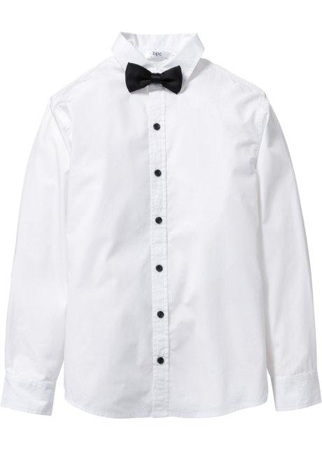Festliches Hemd mit Fliege für modische Jungen - weiß 685460665f