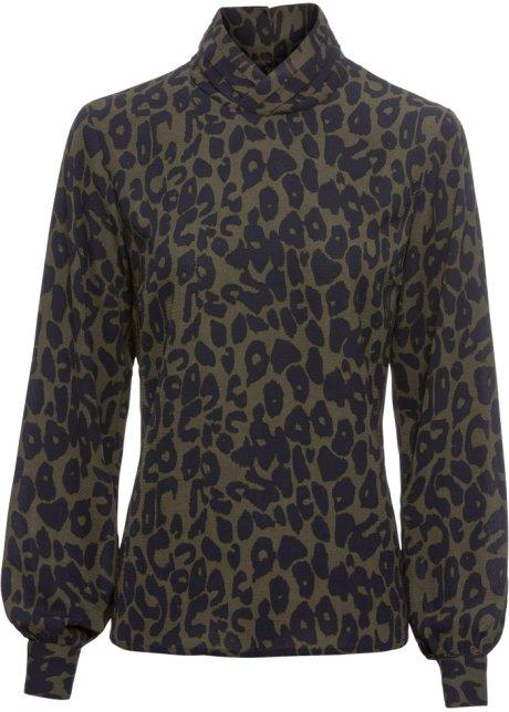 neues Erscheinungsbild Neuankömmlinge Verarbeitung finden Bluse mit Leopardendruck