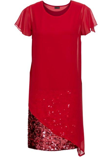 Rørig Schickes Kleid in Doppel-Lagen-Optik - chillirot QS-22