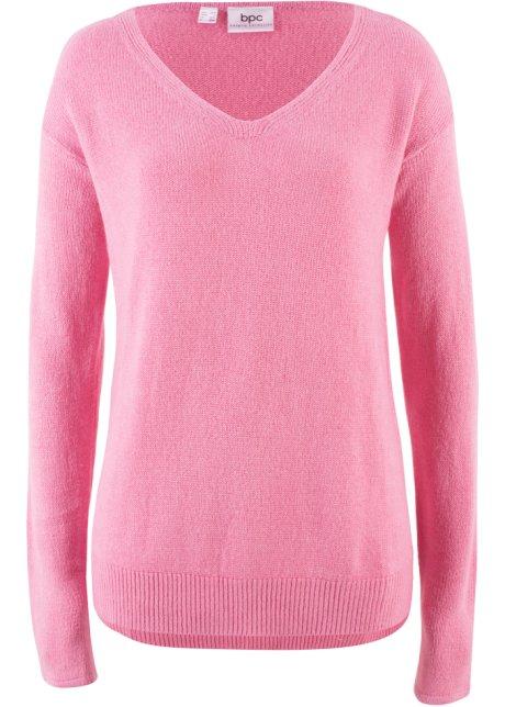 Oversize Pullover mit Schlitz