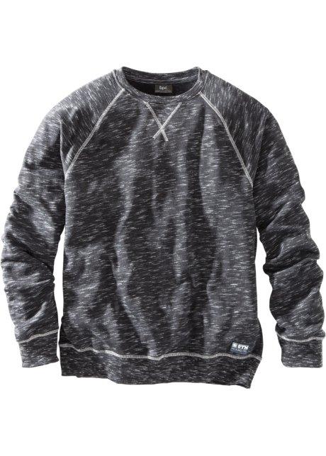 1be7335cd3 Sportliches Herren Sweatshirt mit Raglan-Ärmeln - schwarz meliert