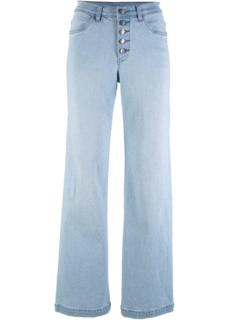 67257e2df4e2 Soft-Stretch-Jeans mit hohem Bund, WIDE