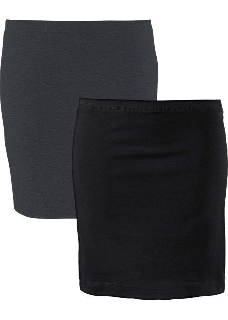 Modischer Shirtrock aus Stretch im Doppelpack - anthrazit meliert+ ... d7c7201a8c