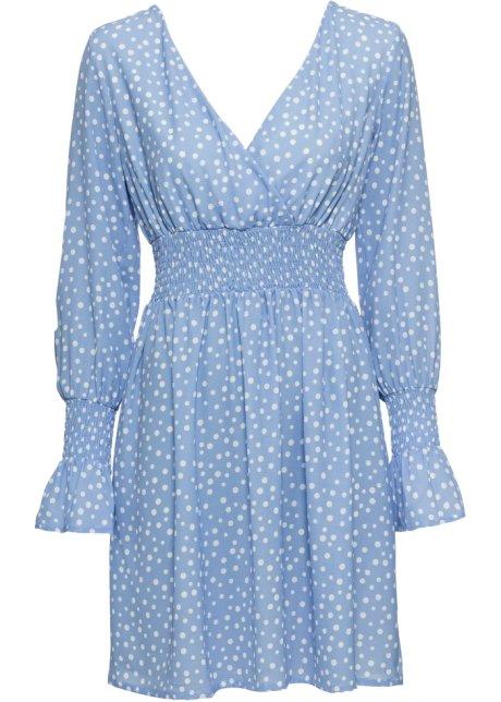 bonprix sommerkleid blau weiß gepunktet