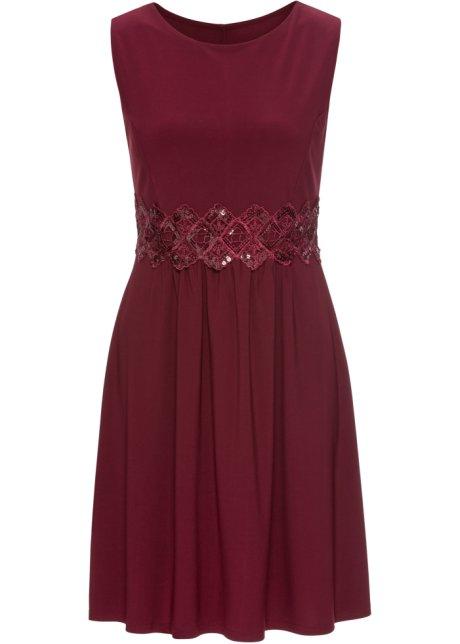 d10c078d77a1 Kurzes Jersey-Kleid ohne Ärmel - bordeaux