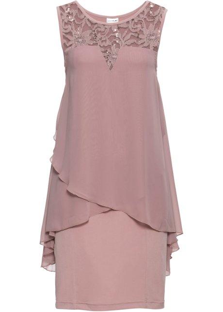 Apartes Kleid mit Pailletten - rosenholz b51d2db5bd