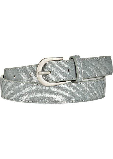 df07bc4426dfb2 Modisches Accessoire: Gürtel im Metallic-Design - hellblau/silberfarben