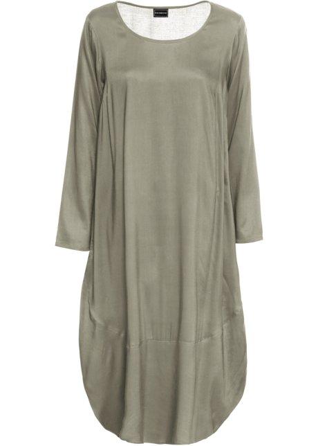 Kleid Angesagtes New Oversize Mit Seitentaschen Khaki KF1lJc