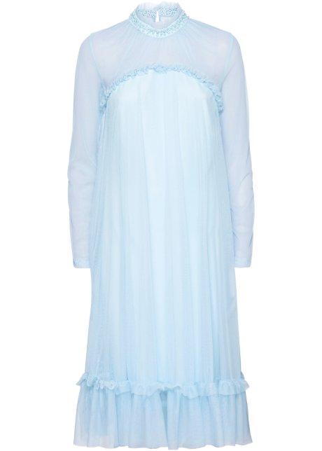 size 40 cbbb1 d4973 Kleid mit Spitze und Applikationen