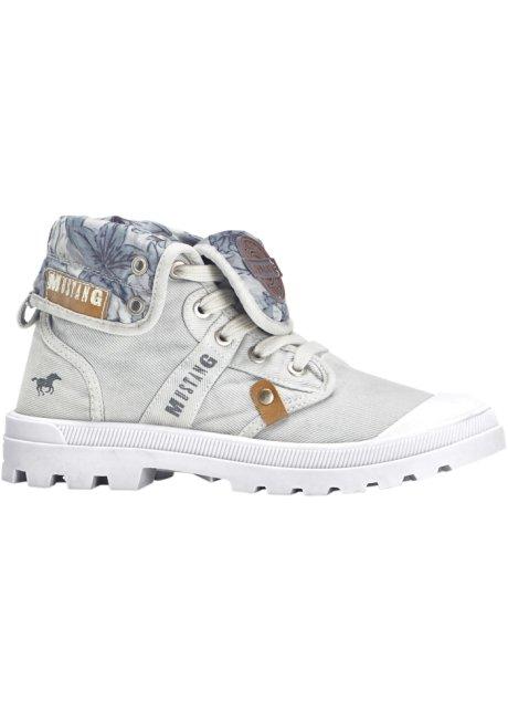 9d98e2c4af2 Hightop Sneaker mit gemustertem Innenfutter - hellgrau