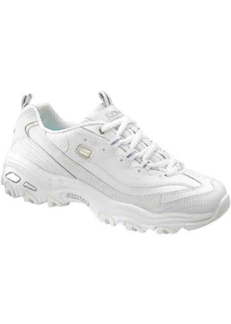 Weißer Sneaker mit Silberappikationen