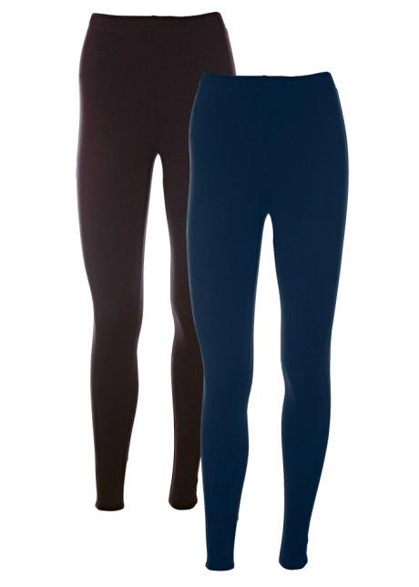 6e660302ed5c2b Bequeme Leggings mit Baumwolle und elastischem Bund - dunkelblau+schwarz