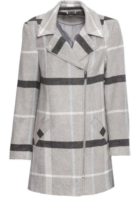 low priced 53ca9 4f96b Karierter Mantel mit versetztem Reißverschluss