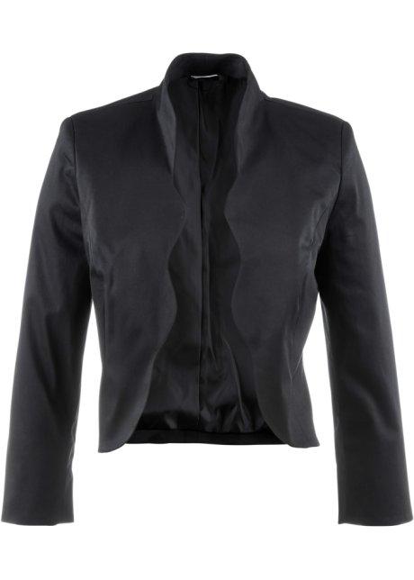 ff2c869f8bc85e Elegante Bolero-Jacke mit Details - schwarz