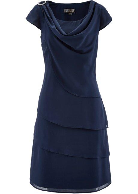 online store a9583 da97c Elegantes Kleid mit Wasserfallausschnitt
