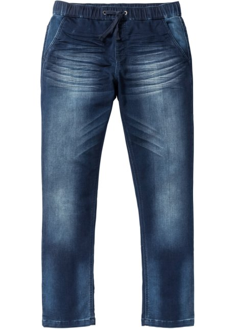 Superlässige Regular Fit Sweat Jeans Mit Gummibund Darkblue Stone N Größe