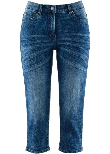 Schöne Capri Jeans Mit Teilgummibund Blue Stone