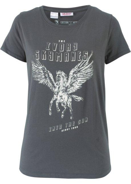 differently a6e34 d520c Baumwoll T-Shirt, bedruckt, Kurzarm