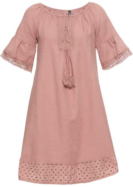 Angesagtes Kleid Mit Weiten Armeln Und Hakelborduren Vintagerosa