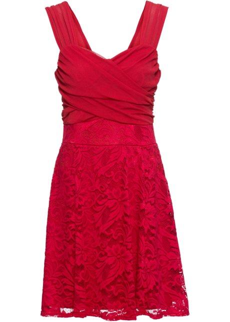 san francisco 002d9 09d93 Feminines Kleid mit zartem Spitzenrock