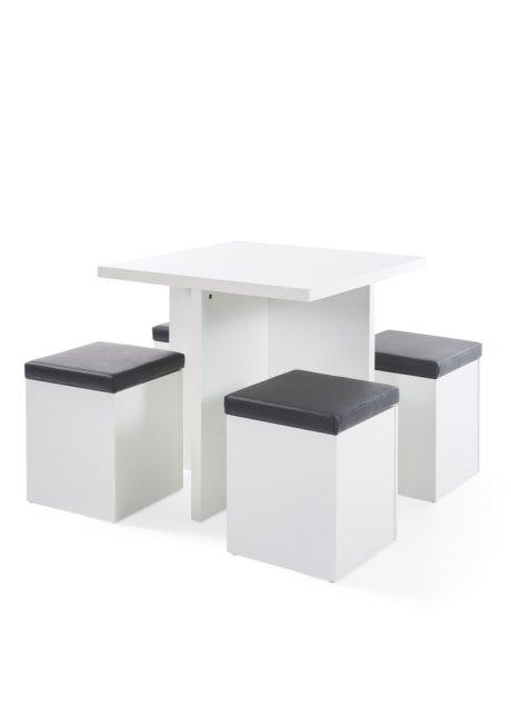 Tisch Platzsparend.Tisch Mit Hocker