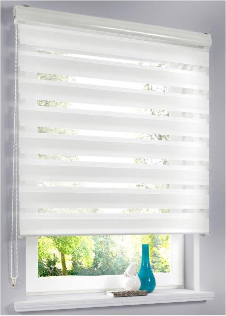 Extrem Unifarbenes Doppelrollo - Lichtschutz in modernem Design - weiß SK61